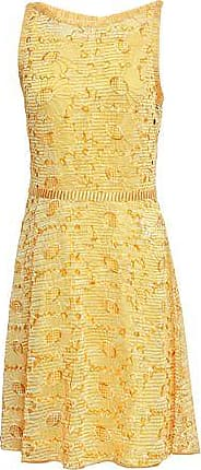 Missoni Missoni Woman Broderie Anglaise Crochet-knit Dress Yellow Size 36