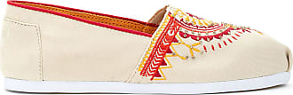 Toms Women Slip-On Shoes, UK: 6.5 UK, Natural Beaded Embroidery