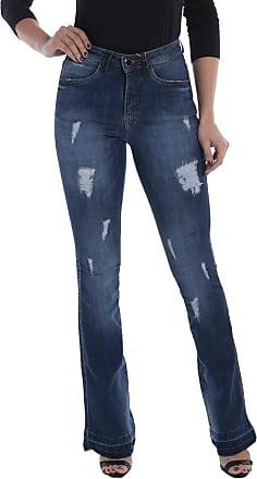 Osmoze Calça Jeans Osmoze Mid Rise Flare Azul 40