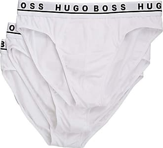 Boss 3 Pack Hip Mens Briefs White