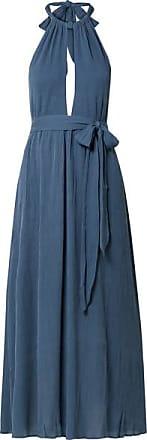 Mara Hoffman Linny Crinkled-tencel Halterneck Midi Dress - Blue