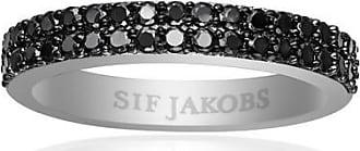 Sif Jakobs Jewellery Ring Corte Due mit schwarzen Zirkonia