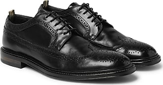 Officine Creative Cornell Polished-leather Wingtip Brogues - Black