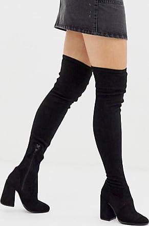 Asos capital stivali al ginocchio morbidi a pianta larga nero asos neri jeans