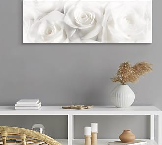 Reinders home24 Tableau déco Roses blanches