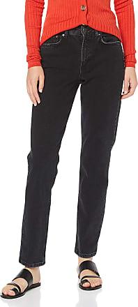 Vero Moda Womens Vmsara Mr Relaxed Strght J Ba115 Noos Ga Straight Jeans, Black (Black Black), W30/L30 (Size: 30)
