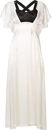 Toga Archives Vestido longo bicolor - Branco