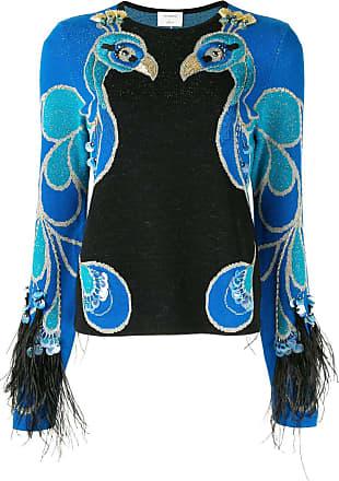 Onefifteen Suéter com bordado de pássaro - Azul