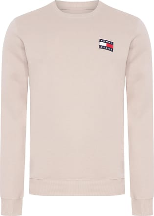 Tommy Jeans SUÉTER MASCULINO BADGE CREW - BEGE