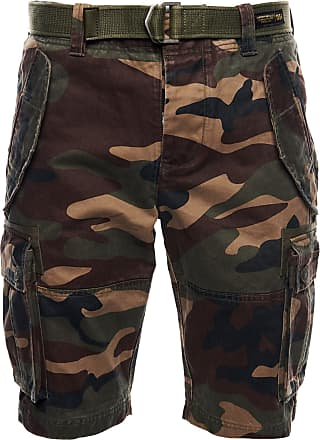 Superdry Shorts grün / navy / beige / braun