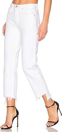 GRLFRND Helena High-Rise Straight Crop Jean in White
