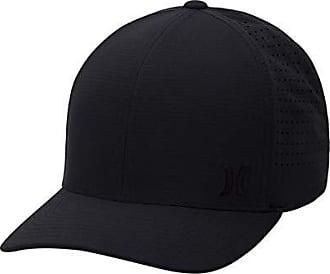 Hurley Mens Phantom Ripstop Curved Bill Baseball Cap, Black, L-XL