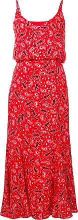 Jovonna London Vestido midi com estampa paisley - Vermelho