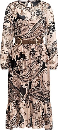 Rinascimento Kleid mit Volantbesatz - HELLROSE/ CAMEL/ SCHWARZ