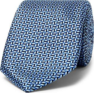 Canali 6cm Silk-jacquard Tie - Blue