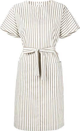 PESERICO striped dress - Neutro