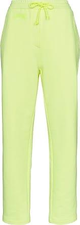 Juun.J high-waist cotton track pants - Yellow