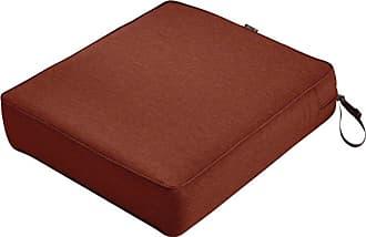 Classic Accessories Montlake FadeSafe Rectangular Outdoor Patio Lounge Seat Cushion Heather Indigo Blue - 62-018-INDIGO-EC