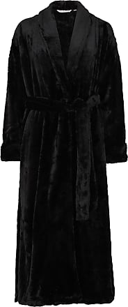 Slenderella Ladies New Ultimate Luxury Super Soft Shawl Collared Dressing Gown/Wrap S-XL (Large, Black)