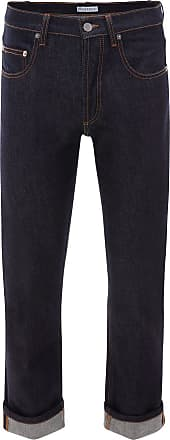 J.W.Anderson Calça jeans slim com barra dobrada - Azul