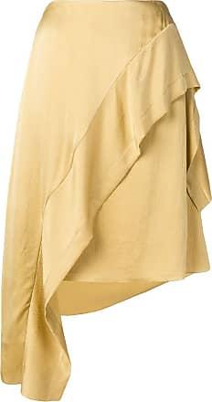 Nina Ricci asymmetric ruffled skirt - Neutro