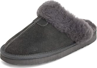 Polar Womens Real Suede Australian Winter Warm Mules - 9 - GRE42 YC0216 Grey
