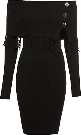 BODYFLIRT boutique Dam Stickad klänning med singoallaringning i svart lång  ärm - BODYFLIRT boutique 5b71773f03e48