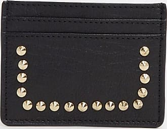 Urban Code real leather studded card holder-Black