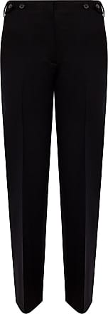 The Row Creased Wool Trousers Womens Black
