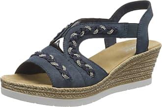 Rieker Womens Frühjahr/Sommer 619D8 Closed Toe Sandals, Blue (Baltic 14), 3.5 UK