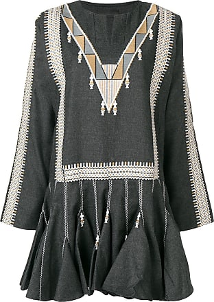 Diesel embroidered flared dress - Grey