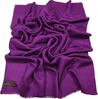 CJ Apparel Purple Fringe Solid Colour Design Nepalese Shawl Seconds Scarf Stole Throw Pashmina NEW