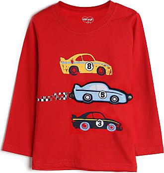 Tip Top Camiseta Tip Top Infantil Carros Vermelho