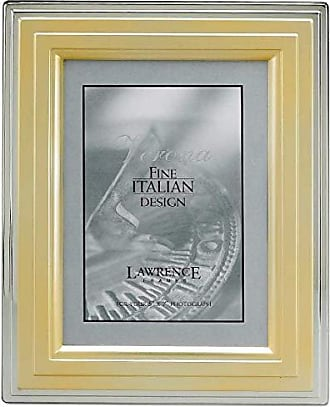 Lawrence Frames Metal Picture Frame Gold and Silver Step, 5 by 7-Inch