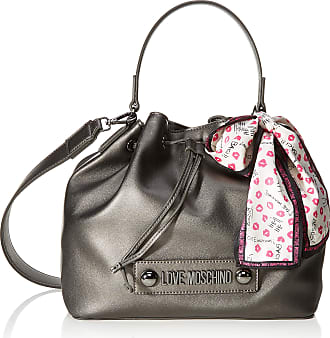 Love Moschino Unisex Adults Jc4032pp18lc0906 Bucket Style Handbag, Grey (Fucile), 25x9x28 centimeters (W x H x L)