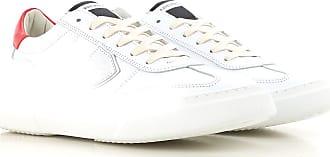 Soldes 2017 cher en Homme Sneaker Cuir 43 Philippe Pas Model Blanc 41 qYwOcRa