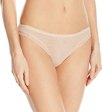 OnGossamer Womens Next to Nothing Mesh Low-Rise Thong Panty, Champagne, Small
