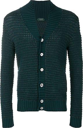 Zanone shawl collar knit cardigan - Green