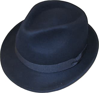 b28531e6 Major Wear Unisex Navy 100% Wool Hand Made Felt Fedora Trilby Hat with Band  -