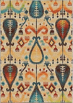 Orian Rugs Spoleto Tribal Turk Area Rug, 53 x 76, Off-White