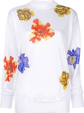 Toga Archives Suéter floral de tricô - Branco