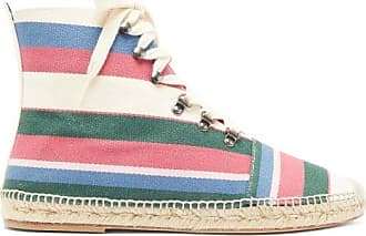 Loewe Striped Cotton High-top Espadrille Trainers - Mens - Multi