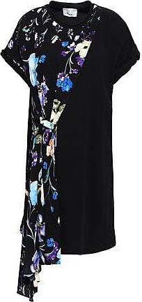 0aa4d232bf0ca 3.1 Phillip Lim 3.1 Phillip Lim Woman Draped Floral-print Silk-paneled  Cotton-