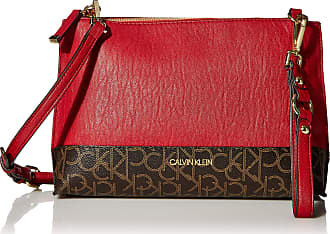 Calvin Klein Womens H9AEJ9WW Shoulder-Handbags, Maraschino/Brown/Khaki, One Size