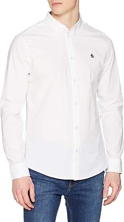 Original Penguin Mens Poplin Casual Shirt, White (Bright White), Medium (Size: M)