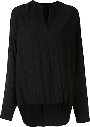 Uma Camicia con effetto stropicciato - Di colore nero