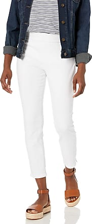 NYDJ Womens Petite Pull ON Skinny Ankle Jean with Side Slit, Optic White, 6
