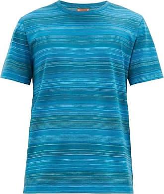 Missoni Striped Cotton-jersey T-shirt - Mens - Blue Multi