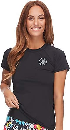 Body Glove Womens Smoothies in-Motion Solid Short Sleeve Rashguard with UPF 50 Black I, Small