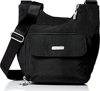 Baggallini Criss Cross Travel Crossbody Bag, Black, One Size
